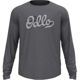 Odlo Concord T-Shirt L/S Crew Neck Men, dark grey melange/graphic